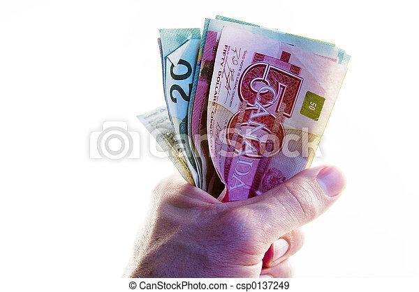 錢, 充分, 拳頭, canadian - csp0137249