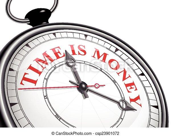 錢, 概念, 時間鐘 - csp23901072