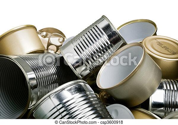 錫, リサイクル, 缶 - csp3600918