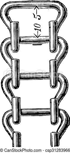 鎖, engraving., vaucanson, 型 - csp31283966