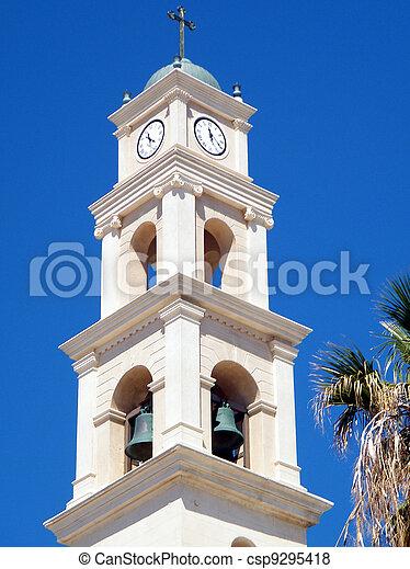 鐘楼, st., 教会, ピーター, jaffa, 2011 - csp9295418