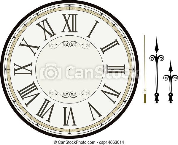 鐘, 樣板, 臉 - csp14863014