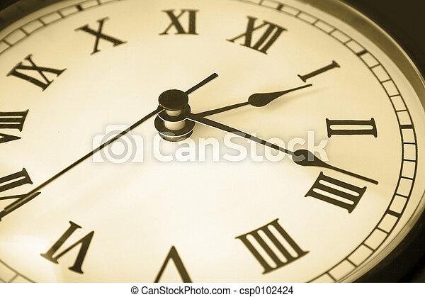 鐘, 老, 臉 - csp0102424