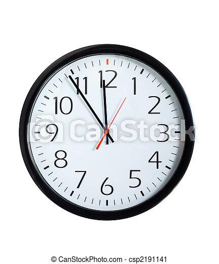 鐘, 辦公室, 臉 - csp2191141