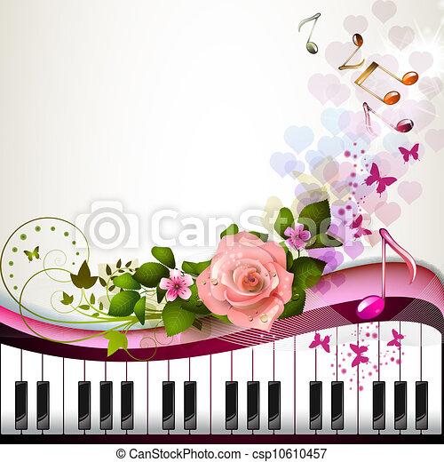 鑰匙, 上升, 鋼琴 - csp10610457