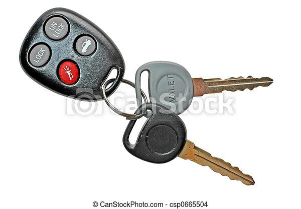 鑰匙, 汽車 - csp0665504