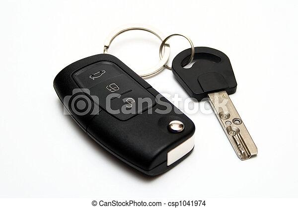 鑰匙, 汽車 - csp1041974
