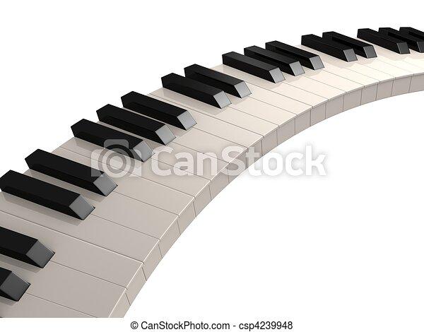 鑰匙, 鋼琴 - csp4239948