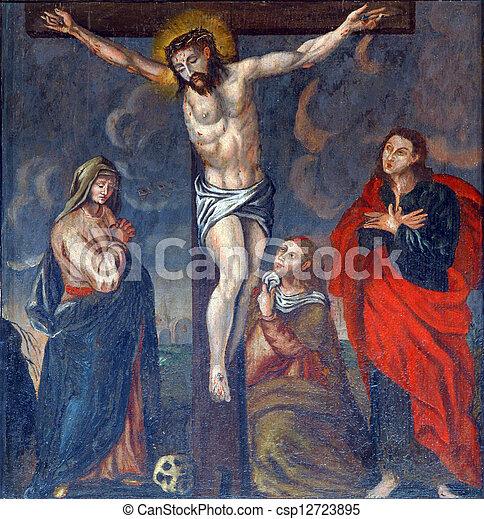 钉死于十字架, 横越, 耶稣