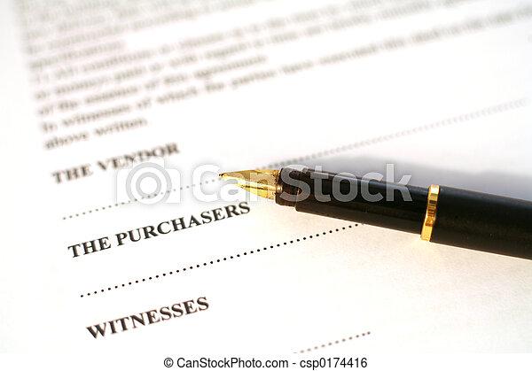 钢笔, 合同 - csp0174416