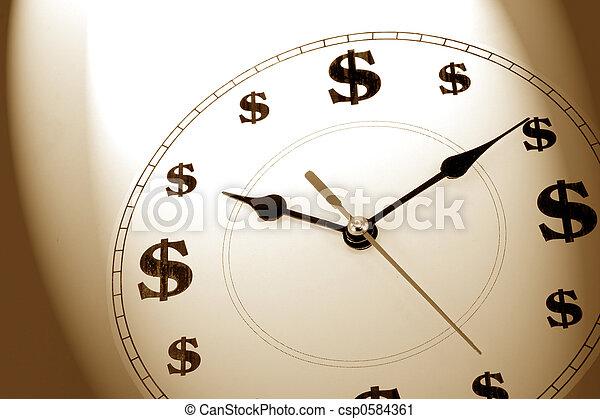 钱, 时间 - csp0584361