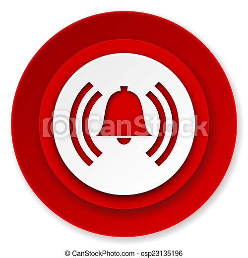 铃, 签署, 警报, 警报, 图标, 符号素材插图