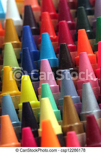 铅笔, 行, 艺术, 色彩丰富, attractively, 蜡, 令人震惊, 孩子, 颜色, 粉笔, 其他人, 安排, 指南, 显示, 列, 做 - csp12286178