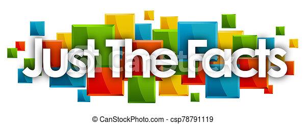 長方形, 単語, 有色人種, ただ, 背景, 事実 - csp78791119