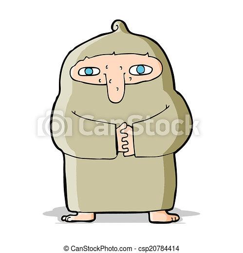 長袍, 卡通, 僧侶 - csp20784414