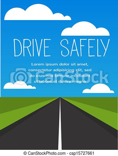 長, 安全, 空, 路, 驅動 - csp15727661