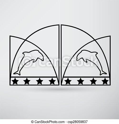 門, アイコン - csp28059837