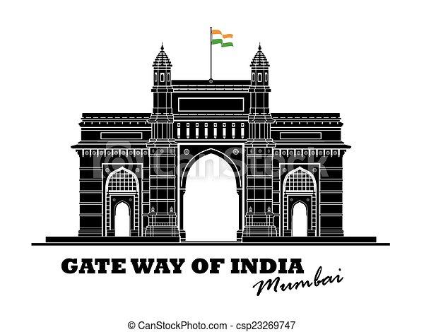 門, インド, 方法 - csp23269747