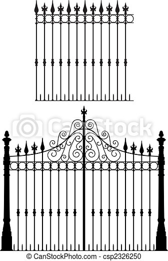門, フェンス - csp2326250