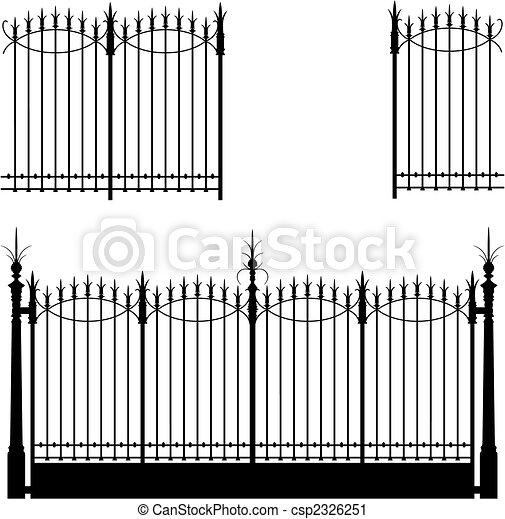 門, フェンス - csp2326251