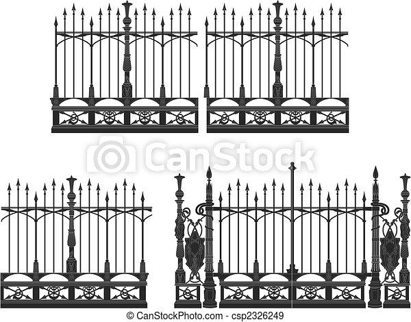 門, フェンス - csp2326249