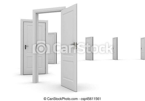 門, -, 發現, 方式, 打開, 你 - csp45611561