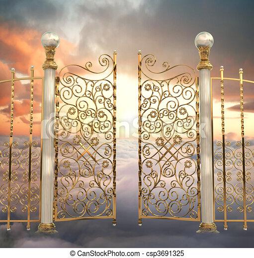 門, 真珠のよう - csp3691325