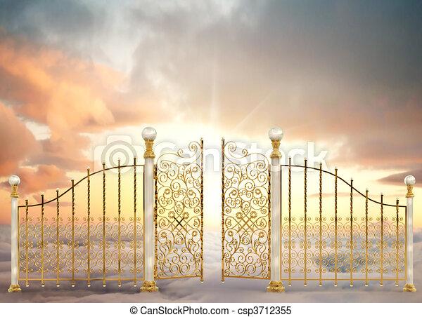 門, 真珠のよう, 風景 - csp3712355