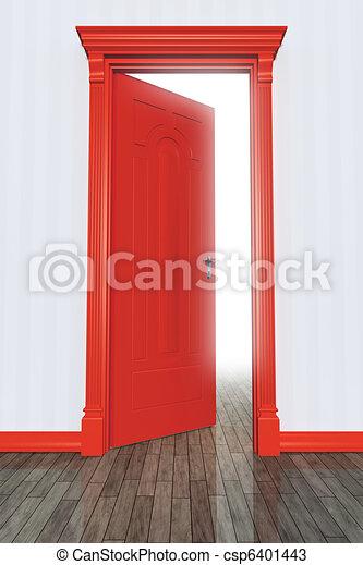 門, 紅色 - csp6401443
