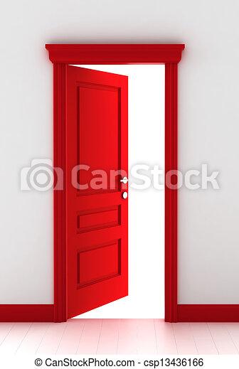 門, 紅色 - csp13436166