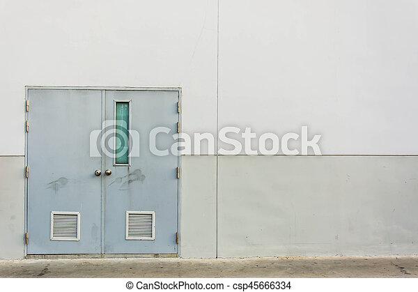 門, 背景, 出口, 緊急事件 - csp45666334