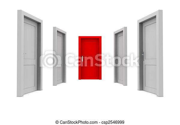 門, 選擇, 紅色 - csp2546999
