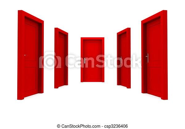 門, 選擇, 紅色 - csp3236406