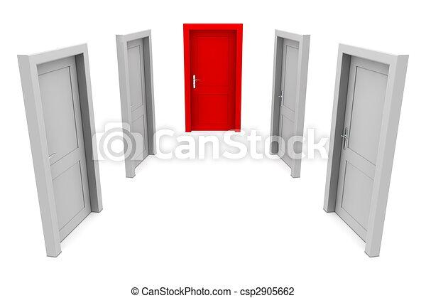 門, 選擇, 紅色 - csp2905662