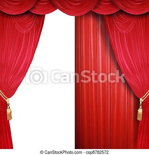 開いた, ステージ, 半分, 劇場 - csp8782572