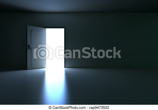 開いているドア - csp9473502