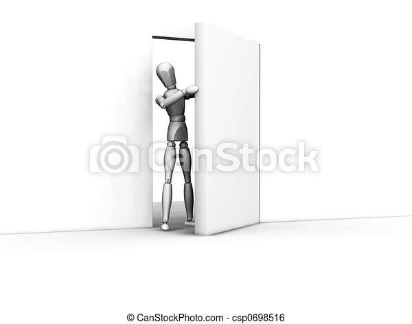 開いているドア - csp0698516