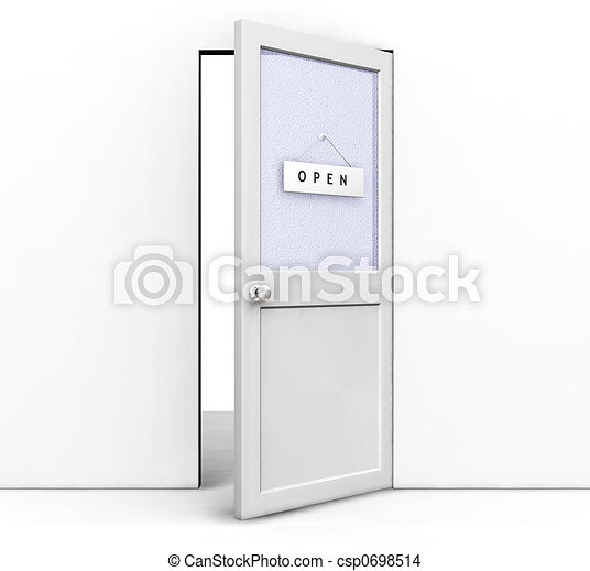 開いているドア - csp0698514