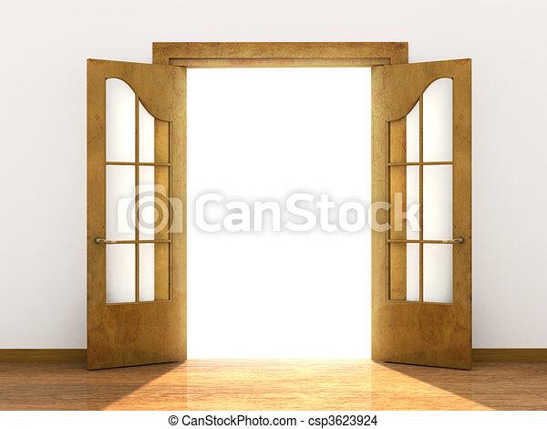 開いているドア - csp3623924