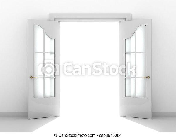 開いているドア - csp3675084