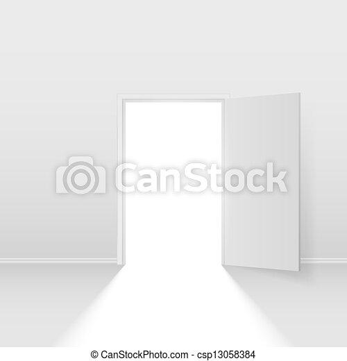開いているドア - csp13058384