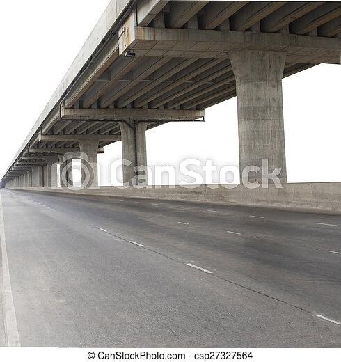 開発, 橋, 使用, サービス, 政府, 隔離された, セメント, civi, コンクリート, 背景, 白, infra, 構造 - csp27327564