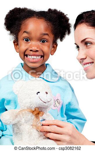 關心, 病人, 她, 醫生, 女性, 玩 - csp3082162