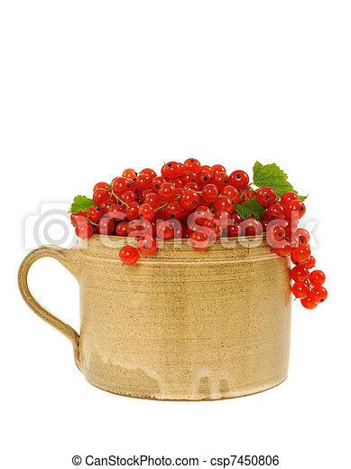 陶瓷, 新鲜, curra, 杯, 充足, 红 - csp7450806