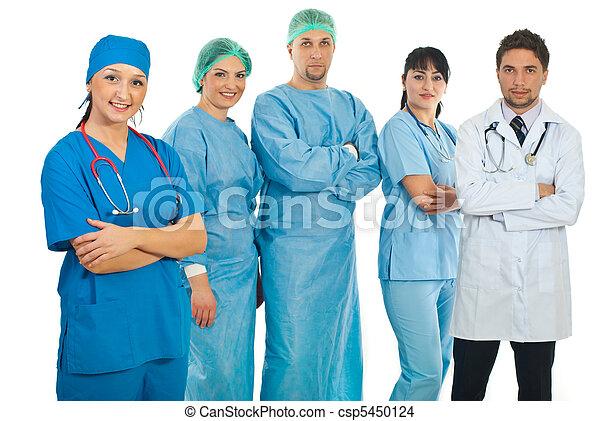 隊, 醫院, 婦女, 她, 醫生 - csp5450124