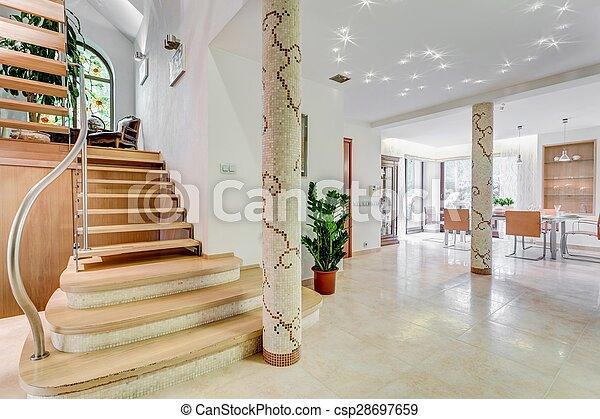 階段, 住宅, 贅沢 - csp28697659