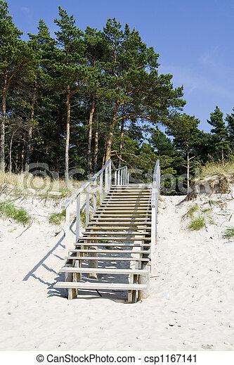 階段, 夏, 浜 - csp1167141