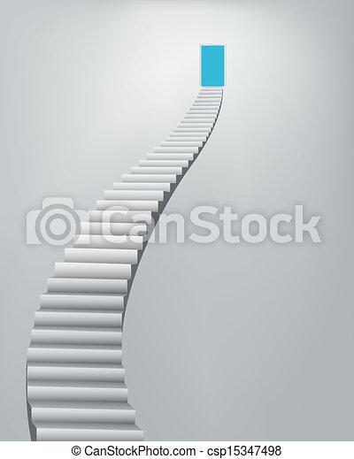 階段, 天国, ドア - csp15347498