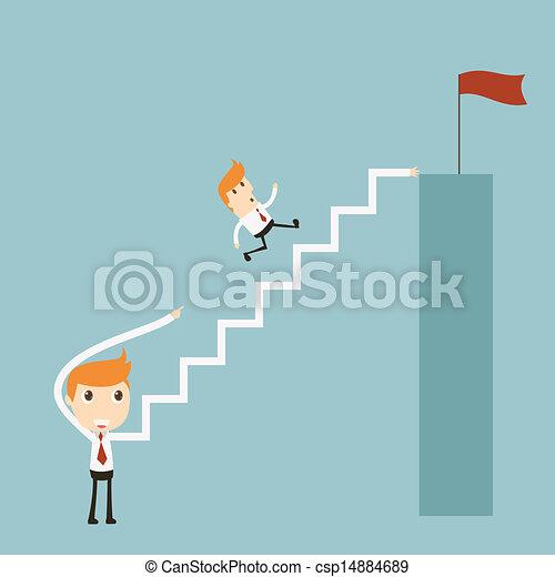 階段, 成功 - csp14884689