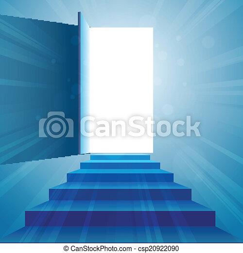 階段, 戸オープン - csp20922090